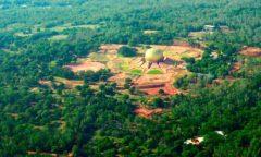 Chorten India Auroville aerea